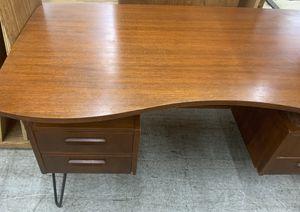 Modern Danish Midcentury Modern two sided Desk for Sale in Broken Arrow, OK
