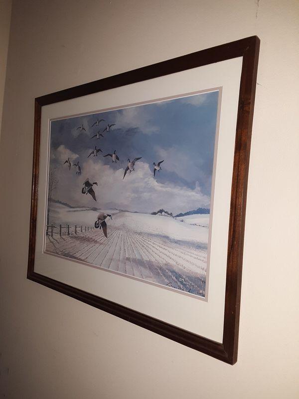 25x20 Framed Geese