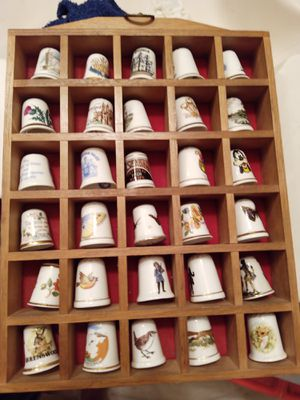 Antique fine bone China thimbles for Sale in Memphis, TN