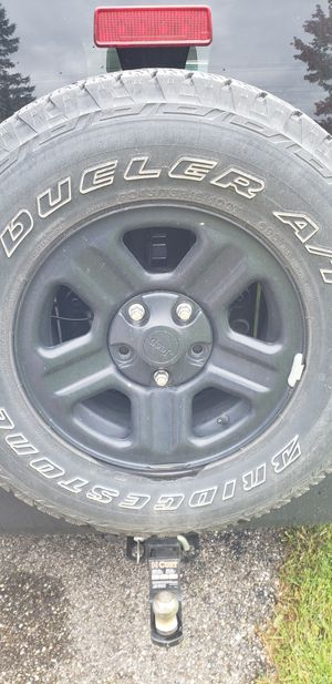 5 Stock Black Rims for Jeep Wrangler for Sale in Mantua, OH