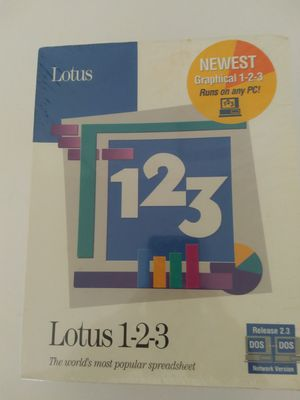 Lotus 123 Spreadsheet Software DOS 2.3 Sealed Box 1991 for Sale in Bradenton, FL