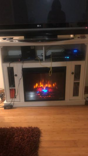 Fireplace tv stand $200.00 firm for Sale in Ontario, CA