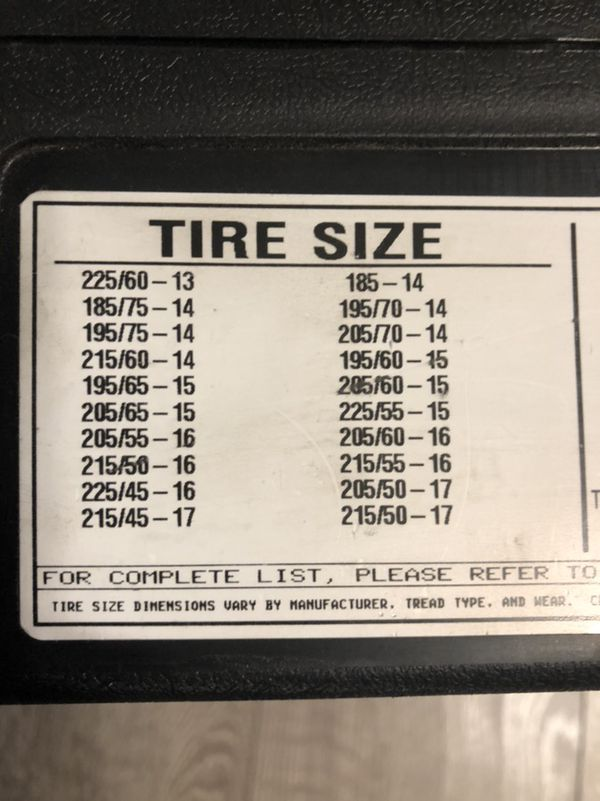 Tire chains for multiple sizes