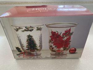 2 Christmas Vases with 2 tea light candles for Sale in Southwest Ranches, FL