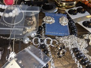 1200 piece mixed lot costume jewelry lot w/ sterling silver for Sale in Warwick, RI