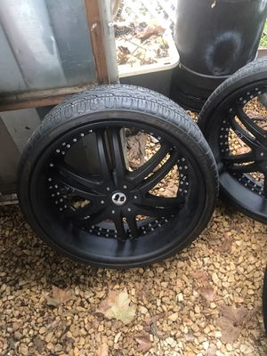 24 inch rims with tires for Sale in El Cajon, CA