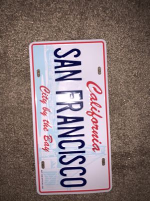 San Francisco license plate for Sale in Modesto, CA