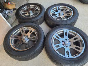 "Wheels and tires 275/55r20"" 6lug Chevy Tahoe Yukon suburban escalade avalanche gmc Silverado 6x5,5 or 6x139,7 for Sale in Riverside, CA"