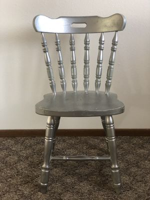 Wood (Silver Spray Painted Chairs) for Sale in Bismarck, ND