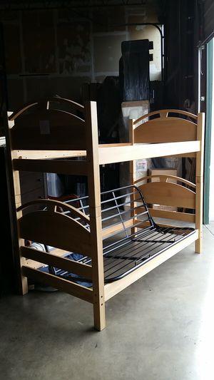 SOLID NEW Hardwood Futon Bunkbed for Sale in Denver, CO