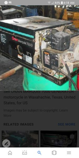 Onan 7000 marquise generator propain or gas for Sale in DeLand, FL