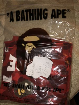 Bape Red Camo Arch Logo Shorts for Sale in Central Islip, NY