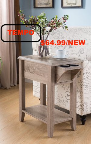 Chair Side Table, Dark Taupe for Sale in Midway City, CA
