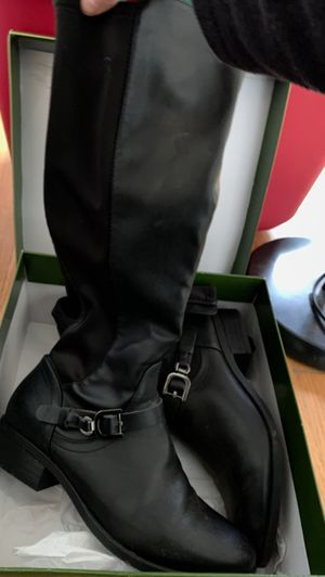 Knee High Riding boots Size 10 Black for Sale in San Gabriel, CA