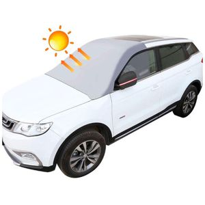 Magnetic Edges Auto Summer Sun Shade - Windshield Snow Cover with Rearview Mirror Protector for ice and Snow - Huge Size Fits Any Car, Truck, SUV, Va for Sale in Queens, NY