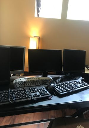 5 monitors and 5 keyboards for Sale in Portland, OR