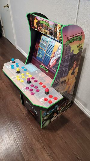 20,000+ games on 4 player TMNT Teenage Mutant Ninja Turtles Arcade 1up for Sale in Irving, TX