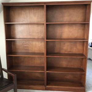 Mahogany Wood Bookshelves Set of 2 for Sale in Solon, OH
