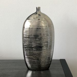 Large Silver Tone Metal Vase for Sale in Seminole, FL
