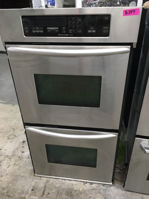 "Kitchen aid stainless steel 27"" double oven for Sale in Costa Mesa, CA"