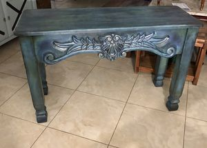 Refinished wood console entry table for Sale in Oakland Park, FL