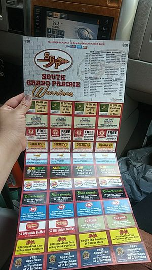 Coupons for restaurant for Sale in Grand Prairie, TX