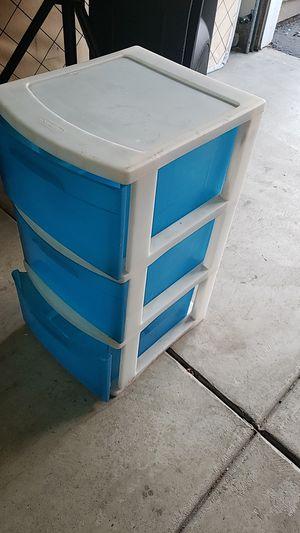 Small plastic sterlite 3 drawer storage asking $10. for Sale in Chula Vista, CA