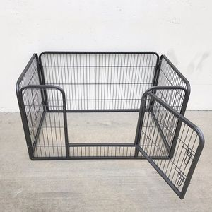 "New in box $75 Heavy Duty 49""x32""x28"" Pet Playpen Dog Crate Kennel Exercise Cage Fence, 4-Panels for Sale in Whittier, CA"