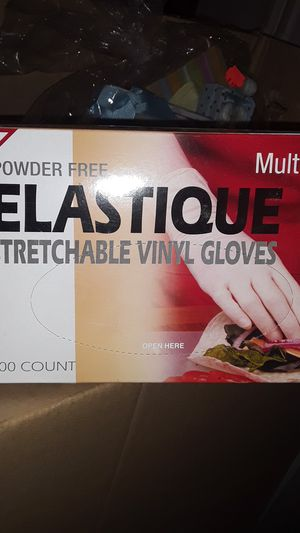 Elastique Strechable Vinyl Gloves for Sale in West Puente Valley, CA