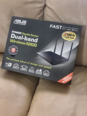 ASUS RT-N66R Dual-Band Wireless-N900 Gigabit Router IEEE 802.11a/b/g/n, IEEE 802.3/3u/3ab. Brand New in Box. for Sale in Davie, FL