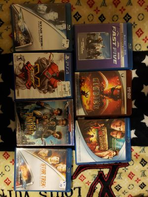 Blu Ray's and a game used for Sale in Cincinnati, OH