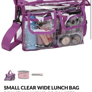 GREAT GIFTS BRAND NEW CLEAR PURSE LUNCH BAG MAKE UP TOTE ART PEN PENCILPOUCH DIAPER BAG ARTIST MARKER HAIR NAIL ACCESSORIES STORAGE ORGANIZER for Sale in La Habra, CA