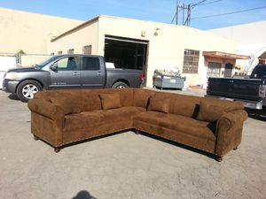 NEW 9X9FT CHOCOLATE MICROFIBER SECTIONAL COUCHES for Sale in Las Vegas, NV