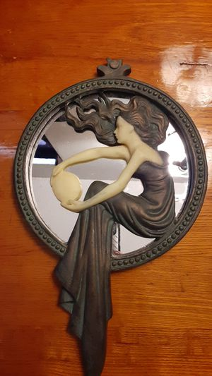 Toscano European Hand Crafted sculpture mirror for Sale in Brandon, FL