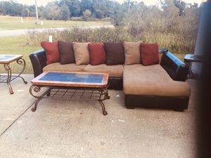 Nice sectional and tables (tables have minor scratches but still looks good for Sale in Kissimmee, FL
