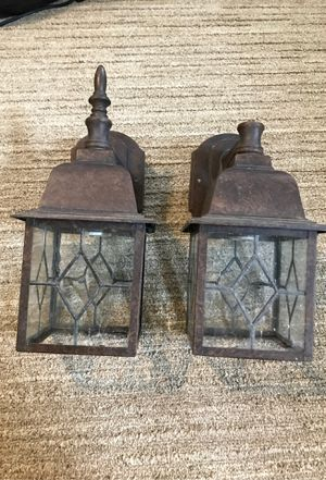 Antique bronze outdoor wall sconces for Sale in Henderson, TX