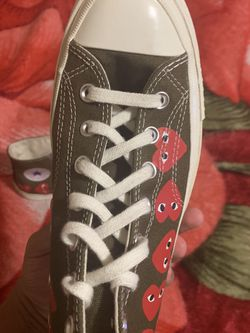 """CONVERSE X COMME DES GARCONS PLAY ALL STAR CHUCK '70 HI """"MULTI HEART for Sale in Fort Washington,  MD"""
