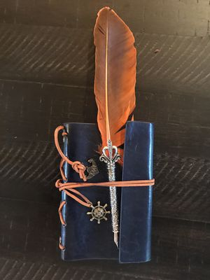 Leather bound journal with heavy duty fountain pen. for Sale in Las Vegas, NV