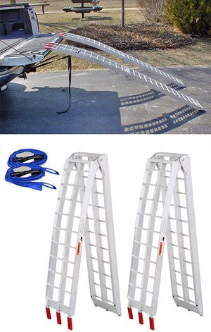 New in box $115 Pair Aluminum Motorcycle Ramp 7.5 ft for Sale in Pico Rivera, CA