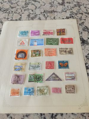 Page of various country postage stamps for Sale in Los Angeles, CA