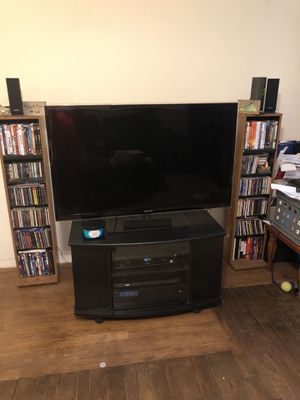 Small 6 Shelf Entertainment Center w/Wheels for Sale in Hampton, VA