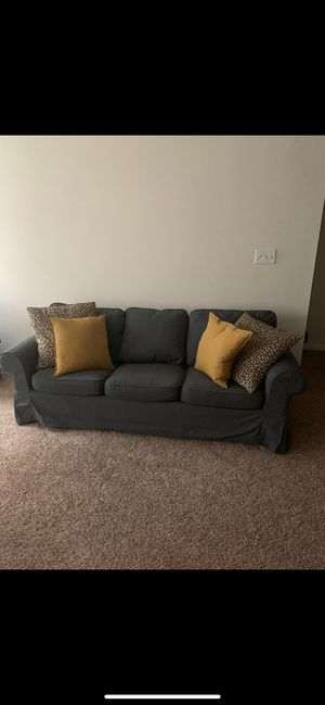 Couch w/convenient outlet table for Sale in Stafford, VA