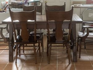 Kitchen table with six chairs $175 for Sale in Chiriaco Summit, CA