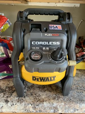 DeWalt air compressor used one time with battery $140 for Sale in Lake Worth, FL