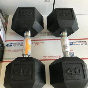 Hex Dumbbells 40 Lb for Sale in Orlando, FL