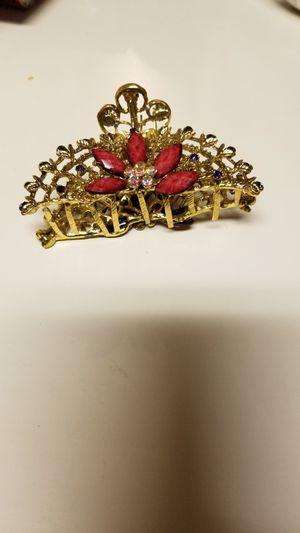 Very pretty jeweled hair clip for Sale in Manassas, VA