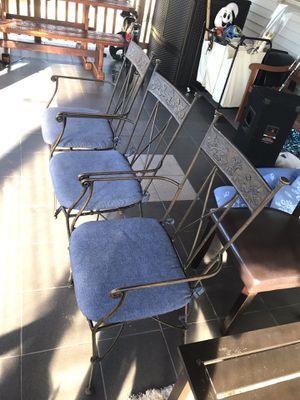 Heavy duty metal chairs for Sale in Manassas, VA