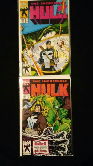 1992 Marvel Comics INCREDIBLE HULK #395 #396 - Two Part Story with THE PUNISHER for Sale in Bellflower, CA