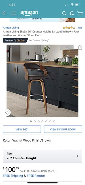 "26"" counter height barstool for Sale in Clovis, CA"