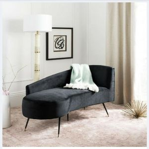 Curved Black Sofa for Sale in Los Angeles, CA